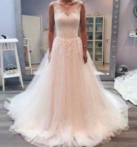 👰 Свадебное платье Мэйси от Milva + кринолин
