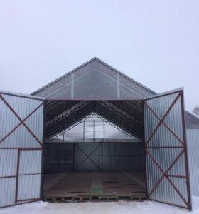 Ангары, склады, зернохранилища.
