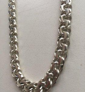 Серебряная цепь мужская
