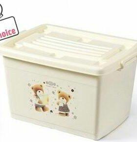 Новый пластиковый ящик для хранения игрушек 120 л