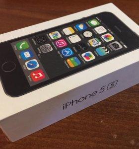 Коробка от iPhone 5S Space Gray на 16Gb