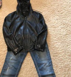 Куртка кожаная женская 46 М