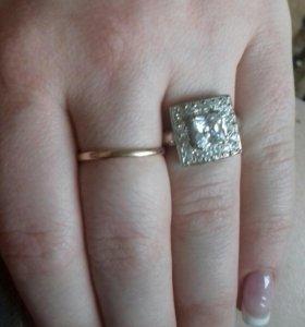Кольцо и серьги серебро с фианитами