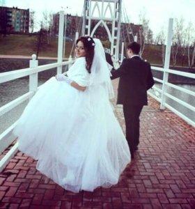 Шикарное свадебное платье в идеальном состоянии