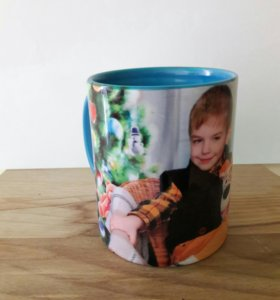 Фотокружка с цветной заливкой внутри