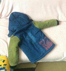 Куртка жёлтая куртка 2-3года,синяя 3-4
