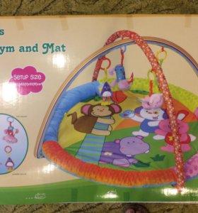 Новый Развивающий детский коврик в коробке