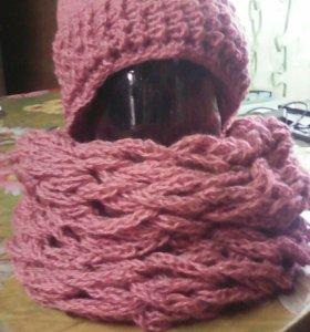 Шапка и шарф снуд