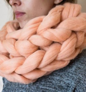 Снуд, шарф из шерсти мериноса