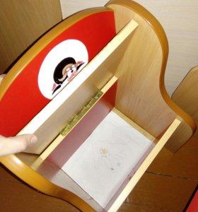 Столик детский +стульчик