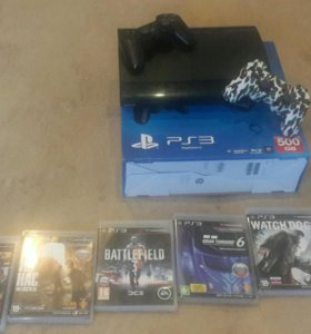 Sony playstation 3 + 2 джостика + 6 игр