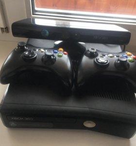 Xbox 360 с прошивкой LT 3.0 2 джойстика и kinect