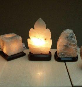 солевые светильники в ассортименте