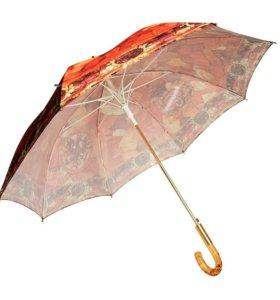 """Зонт-трость """"Янтарная комната"""". Доставка бесплатно"""