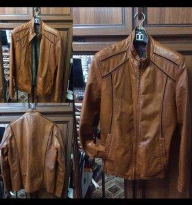 Кожаная куртка,пальто