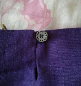 Платье 46размер лен