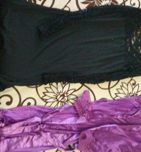 Платья и халат.
