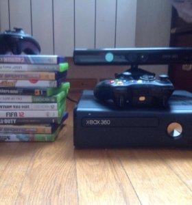 Xbox360 с кинектом 9 играми 2 джостиками