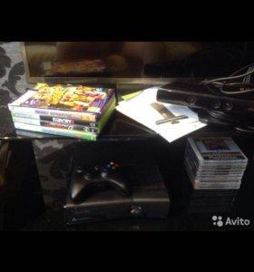 2 приставки Xbox 360+Kinect+6 игр