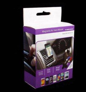 Магнитный держатель в авто для телефона