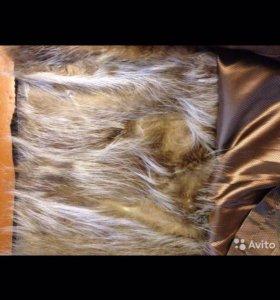 """Кожаная куртка """"Пилот"""" на волчьем меху"""