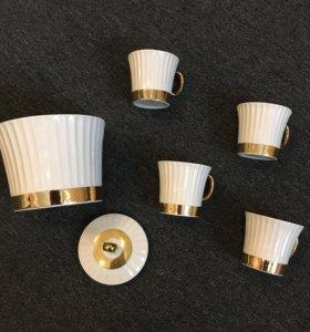 Набор для кофе, сахарница и чашки