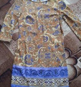 Платье из натурального шелка. Новое