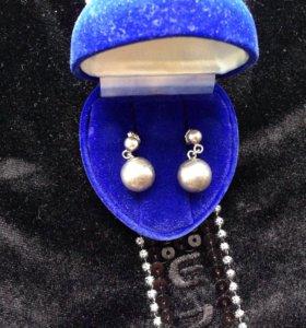 Серьги серебро