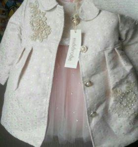 Пальто+платье