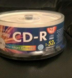 Диски чистые болванки 25шт в упаковке
