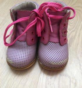 Кожаные ботинки весна-лето 18