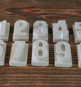 Гипсовая раскраска цифры