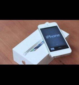 iPhone 5 16gb silver (новый)