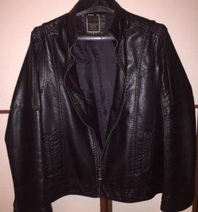 Куртка мужская. Кожзам. Размер 52 L
