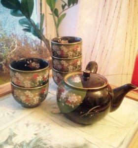 Чайник для зеленого чая с чашками