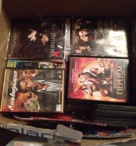 143 шт.DVD диска (фильмы и мультики)