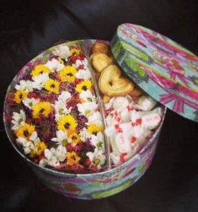 Свежие Цветы в красивых коробках 🌸