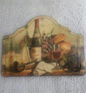Панно, ключница, вешалка Бургунское вино