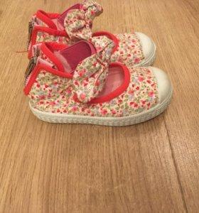 Новые тряпичные туфли/кеды для девочки CHIPIE