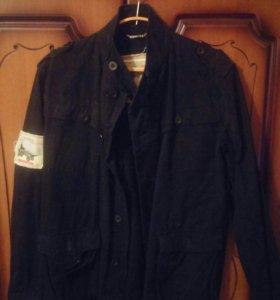 Чёрная джинсовая рубашка-куртка фирмы Extra