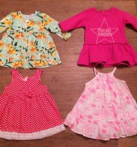 Платья для девочки 74-80