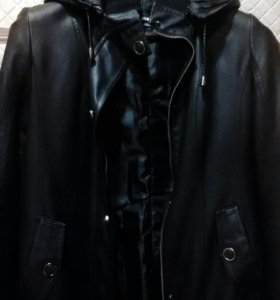 Куртка кожанная (утепленная)