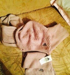 Береточка и шарф (адидас)