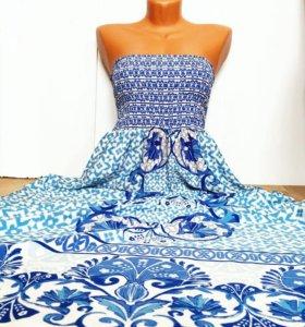 Фирменное платье в пол