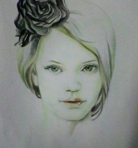 Портрет по фото детский, женский