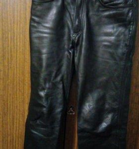 Мужские кожаные брюки размер 48-50