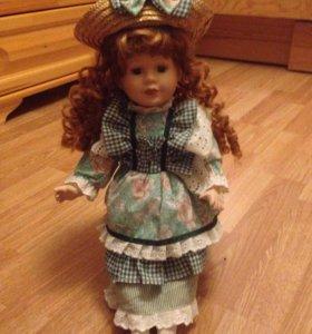 Кукла фарфоровая набивная, коллекционная