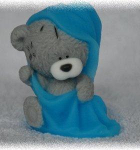 Мыло ручной работы Тедди в полотенце