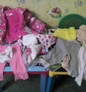 Пакет вещей на девочку 1.6-2 года