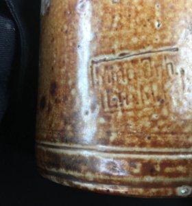 Немецкая бутылка керамика 2 мировая